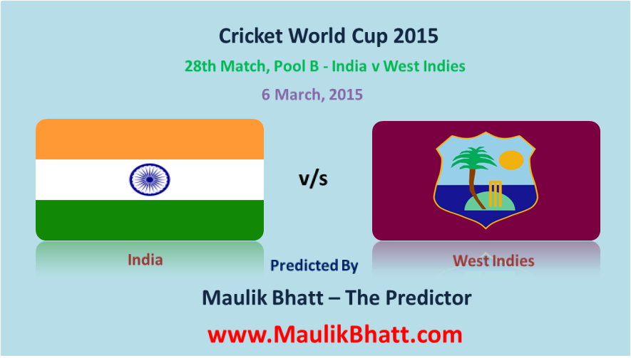 28th Match, Pool B - India v West Indies
